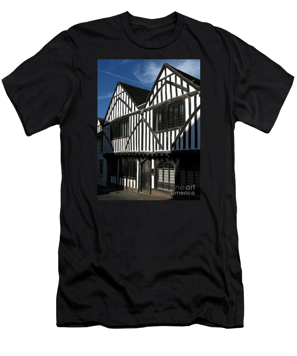 Tudor Men's T-Shirt (Athletic Fit) featuring the photograph Tudor Timber by Ann Horn