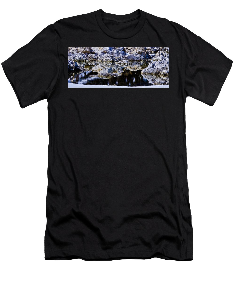 Tufa Men's T-Shirt (Athletic Fit) featuring the photograph Tufa Reflections by Albert Seger