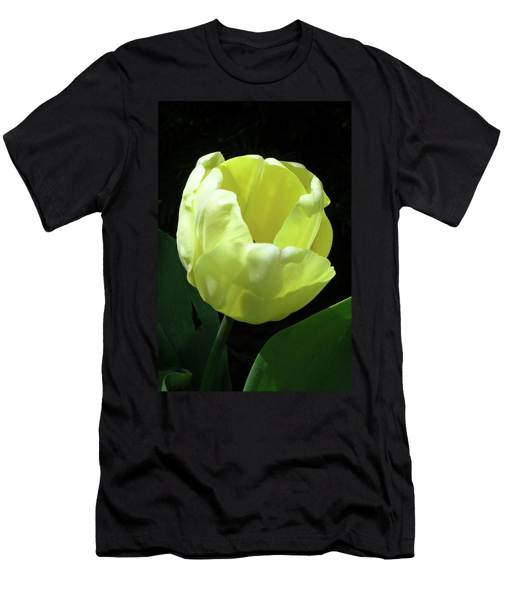 Flowers Men's T-Shirt (Athletic Fit) featuring the photograph Tulip 0755 by Guy Whiteley