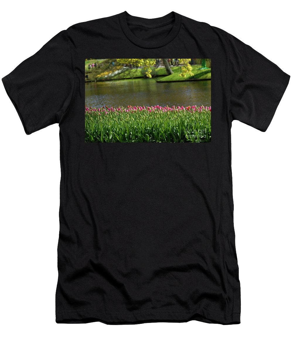 Tulip Men's T-Shirt (Athletic Fit) featuring the photograph Tulip-5 by Milind Ketkar