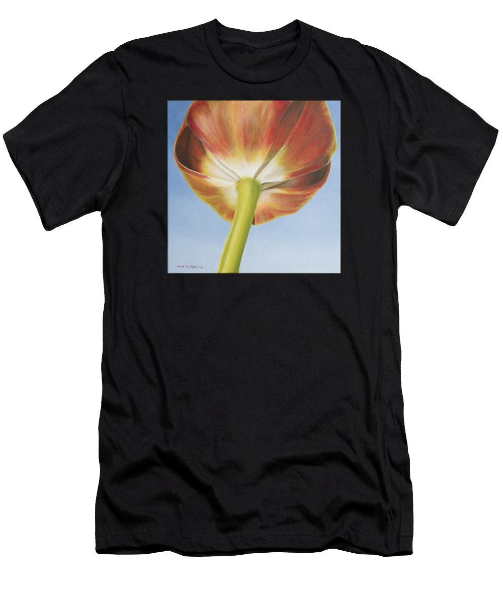 Flower Men's T-Shirt (Athletic Fit) featuring the painting Tulip by Rob De Vries