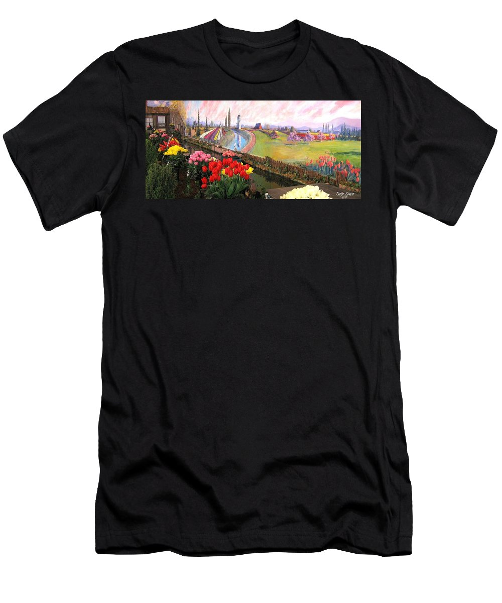 Agriculture Men's T-Shirt (Athletic Fit) featuring the photograph Tulip Town 21 by Will Borden