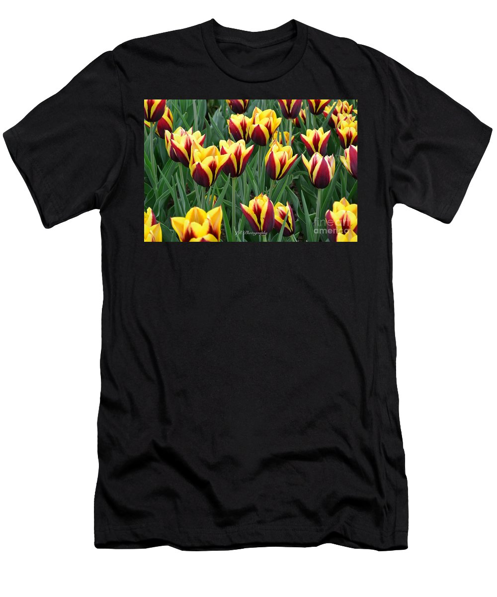 Men's T-Shirt (Athletic Fit) featuring the photograph Tulips In The Garden by Jeannie Rhode