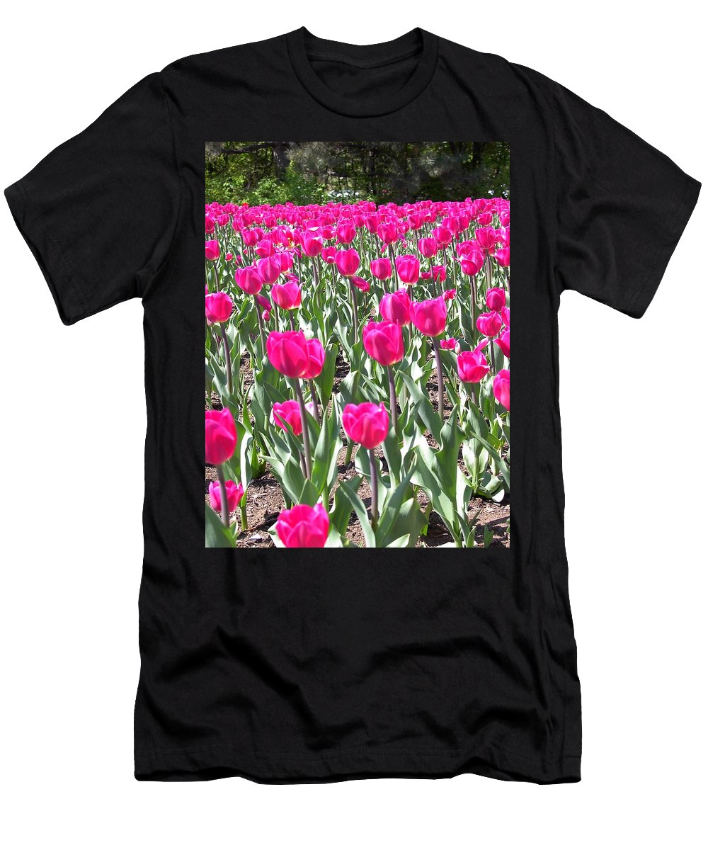 Charity Men's T-Shirt (Athletic Fit) featuring the photograph Tulips by Mary-Lee Sanders