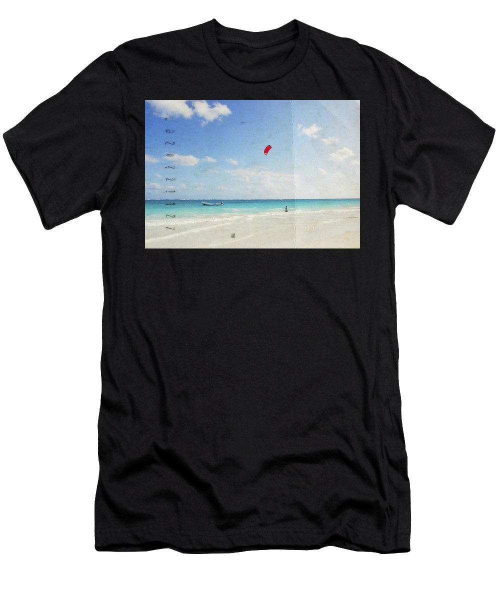 Tulum Men's T-Shirt (Athletic Fit) featuring the photograph Tulum, Carribean Sea, Mexico2 by Larisa Siverina