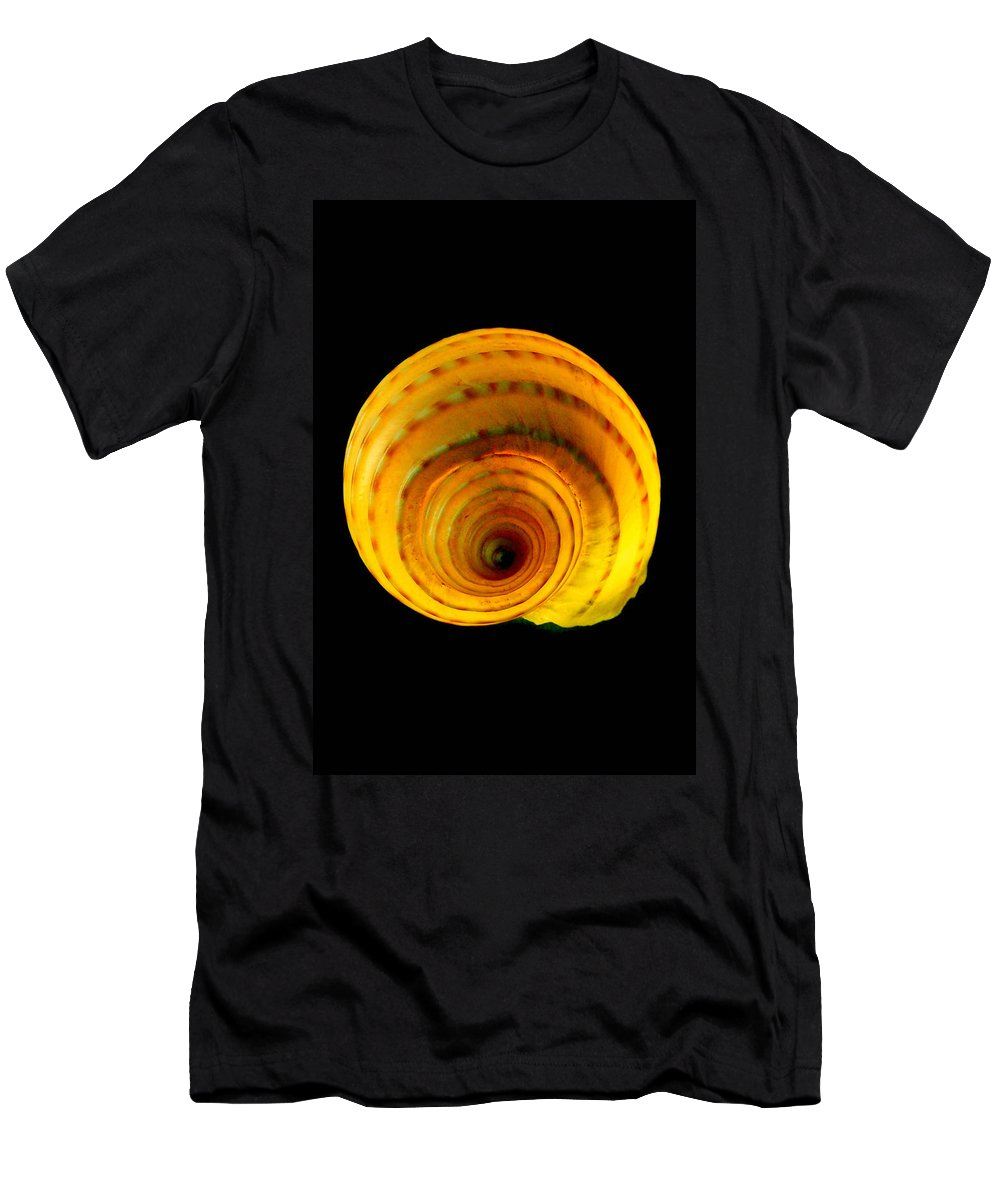 Seashell Men's T-Shirt (Athletic Fit) featuring the photograph Tun Shell by MuzioArt Photography