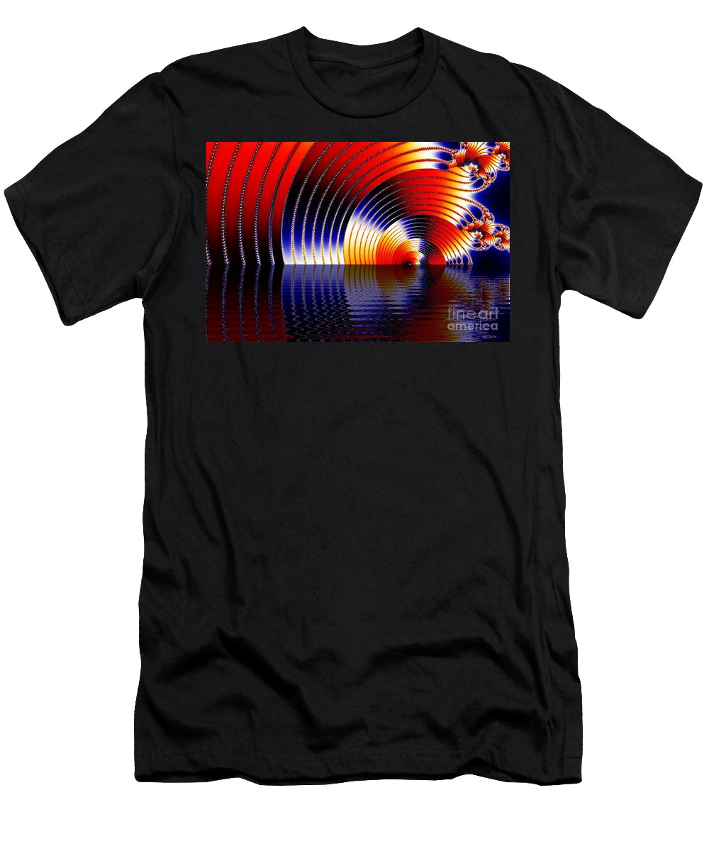 Clay Men's T-Shirt (Athletic Fit) featuring the digital art Tunnel Of Love by Clayton Bruster