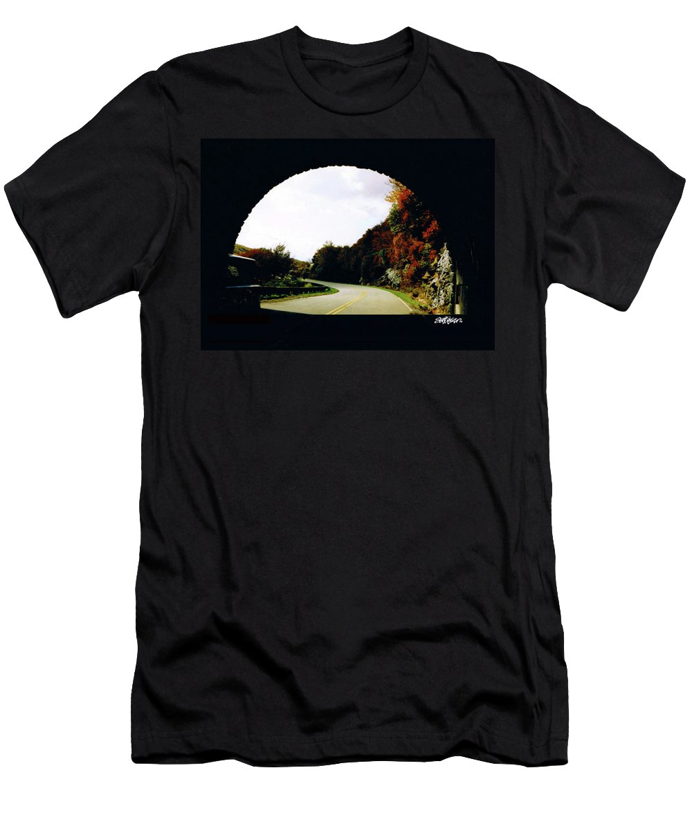 Tunnel Vision Men's T-Shirt (Athletic Fit) featuring the photograph Tunnel Vision by Seth Weaver