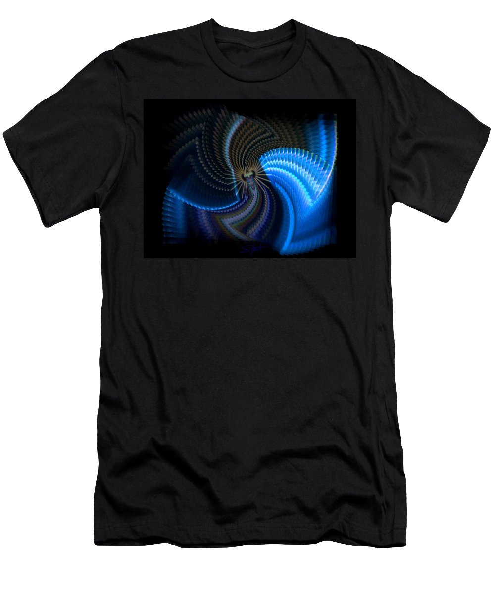 Chaos Men's T-Shirt (Athletic Fit) featuring the photograph Turbine Dynamo by Charles Stuart