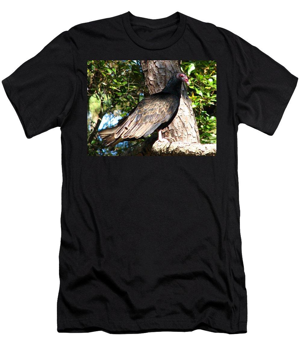 Turkey Buzzard Men's T-Shirt (Athletic Fit) featuring the photograph Turkey Buzzard by J M Farris Photography