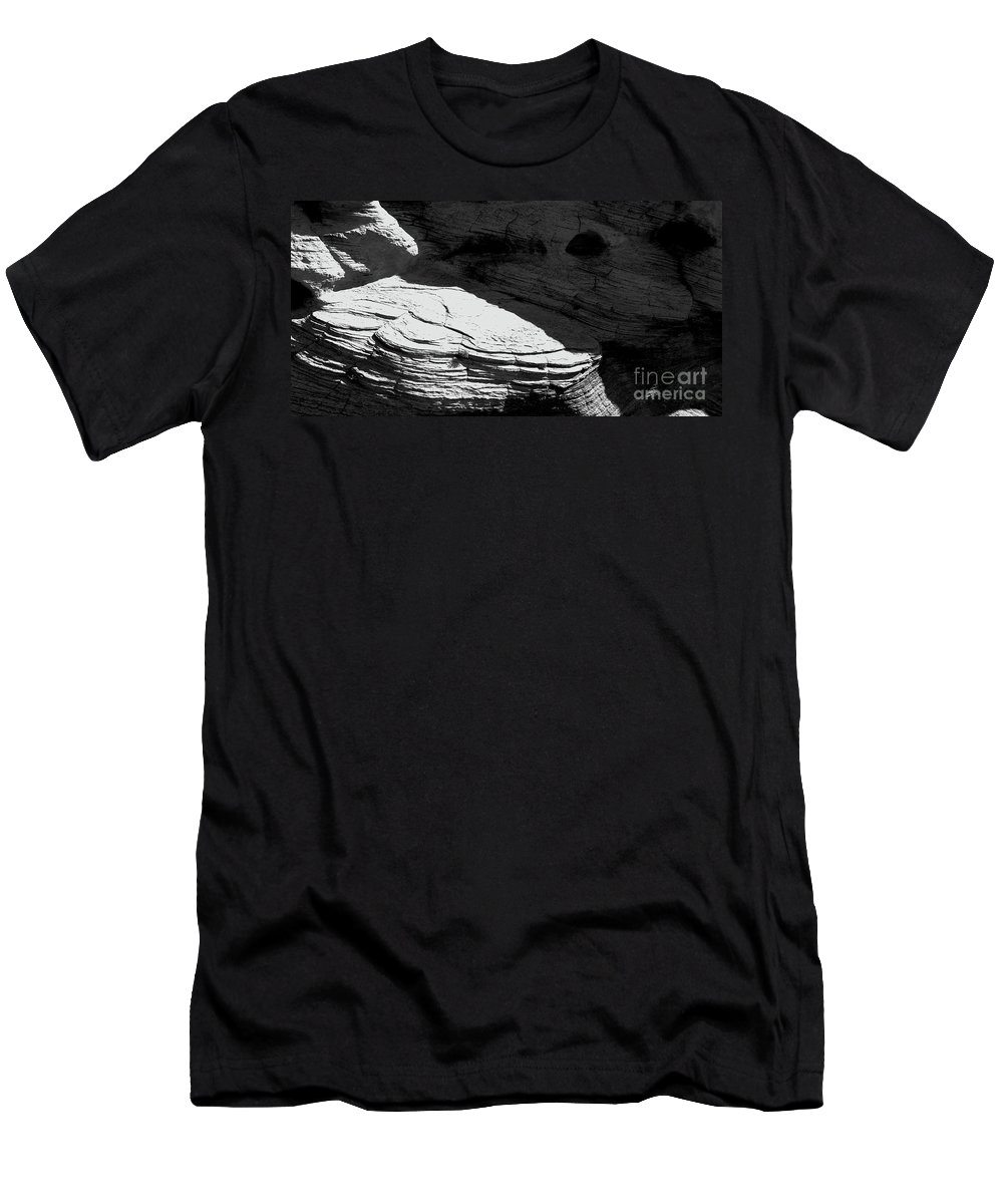 Black And White Photo Men's T-Shirt (Athletic Fit) featuring the photograph Turn Of The Sun Bw by Tim Richards