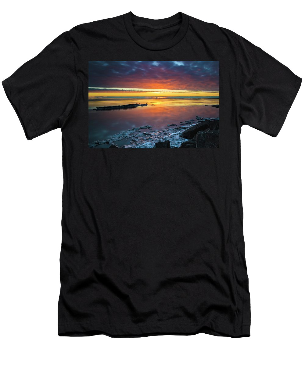 Anchorage Men's T-Shirt (Athletic Fit) featuring the photograph Turnagain Arm Sunset by Scott Slone