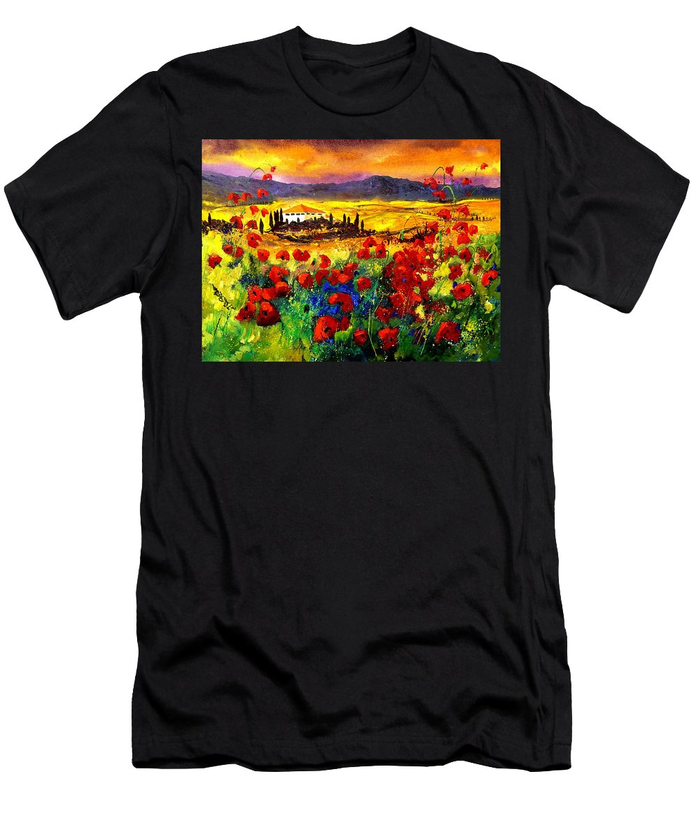 Landscape T-Shirt featuring the painting Tuscany 68 by Pol Ledent