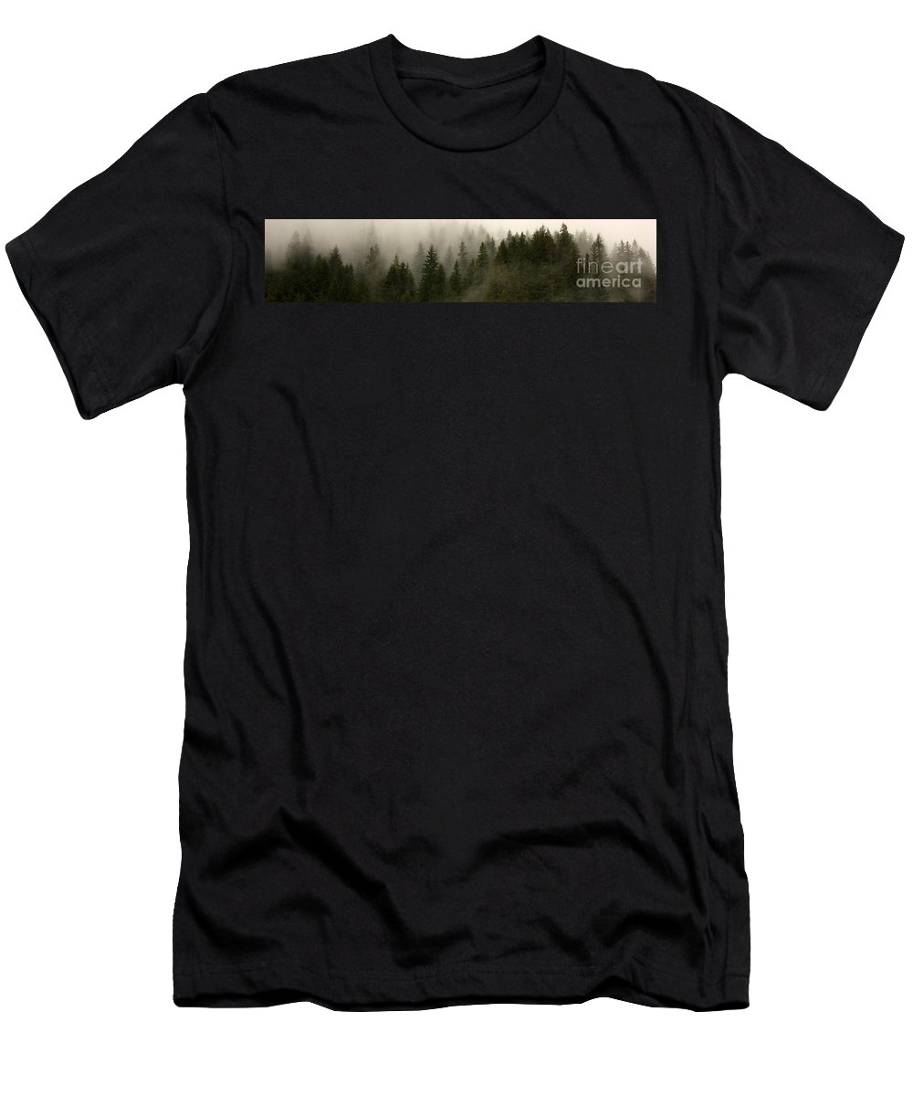 Forks Men's T-Shirt (Athletic Fit) featuring the photograph Twilight Mist by Carol Groenen