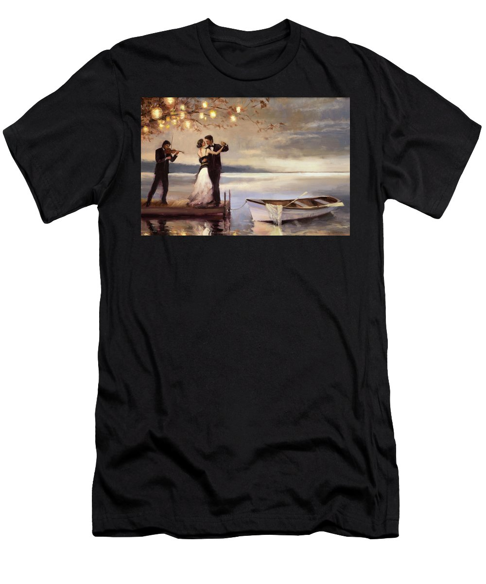 Romantic T-Shirt featuring the painting Twilight Romance by Steve Henderson