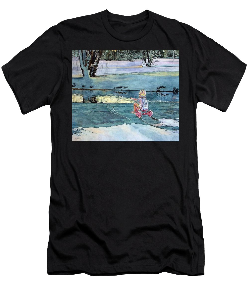 Children Men's T-Shirt (Athletic Fit) featuring the painting Twilight by Valerie Patterson