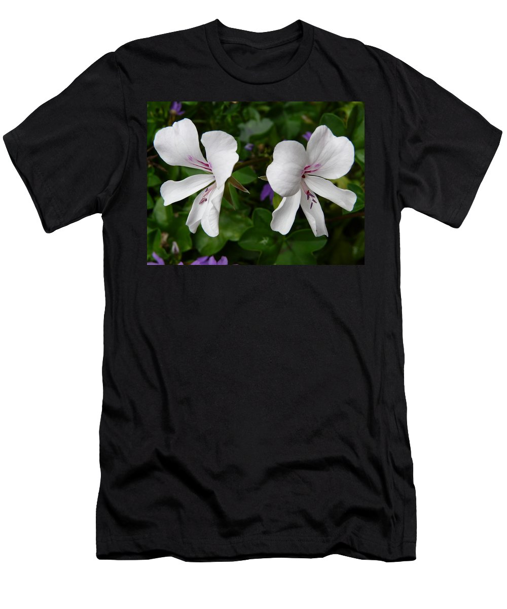 Plant Men's T-Shirt (Athletic Fit) featuring the photograph Twin Flowers by Valerie Ornstein