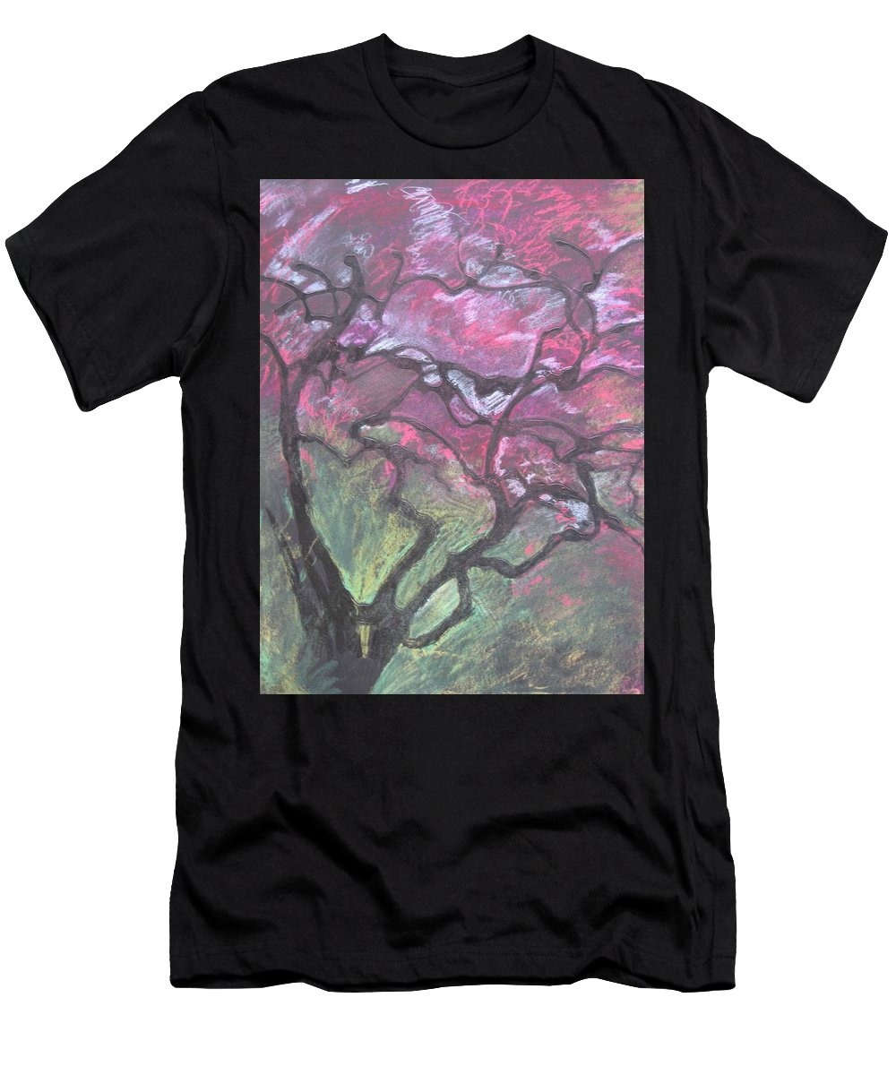 Pastel Men's T-Shirt (Athletic Fit) featuring the drawing Twisted Cherry by Leah Tomaino