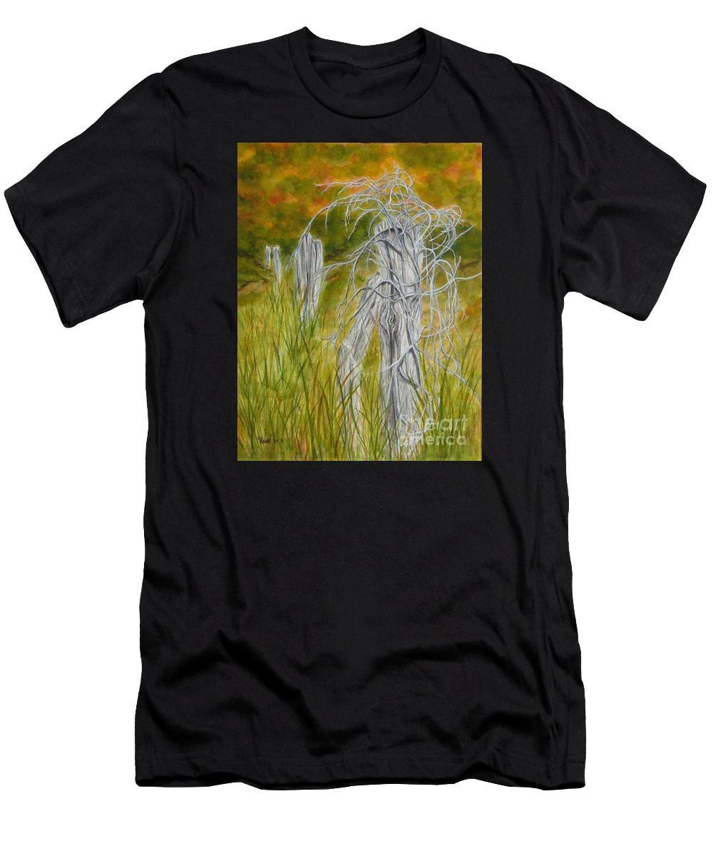 Landscape T-Shirt featuring the painting Twisted by Regan J Smith