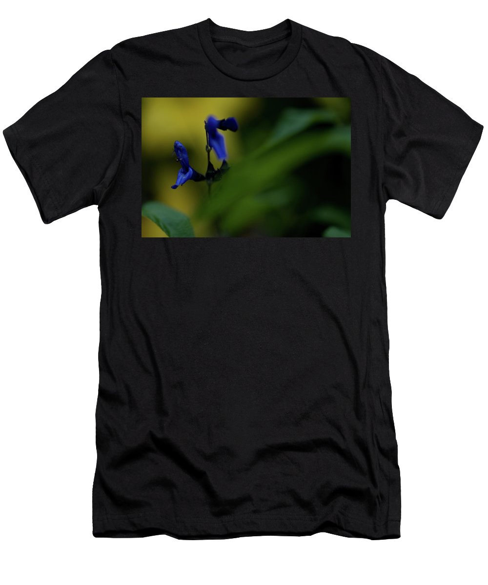 wild Flowers Men's T-Shirt (Athletic Fit) featuring the photograph Two Blue by Paul Mangold