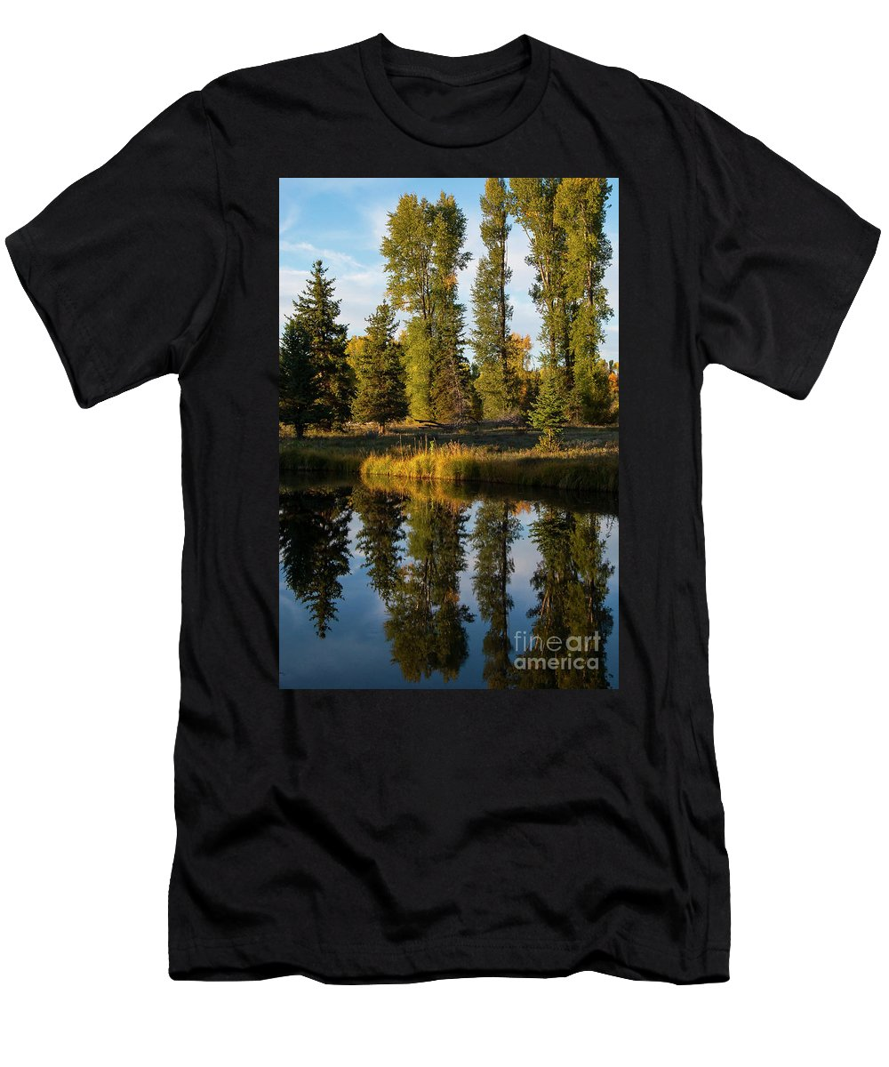 Schwabacher's Landing Men's T-Shirt (Athletic Fit) featuring the photograph Two For One by Bob Phillips