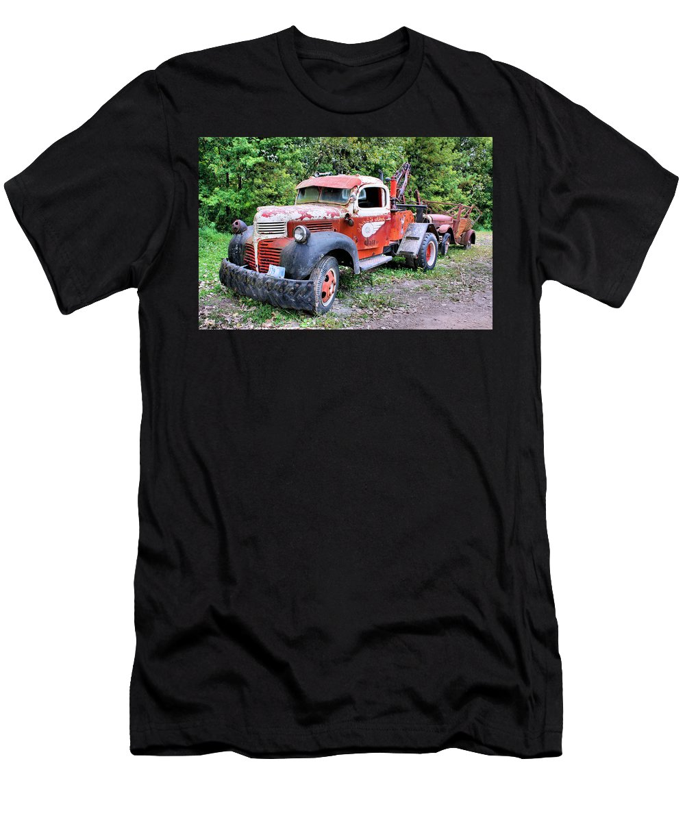 Old Truck T-Shirt featuring the photograph Two for One by Kristin Elmquist