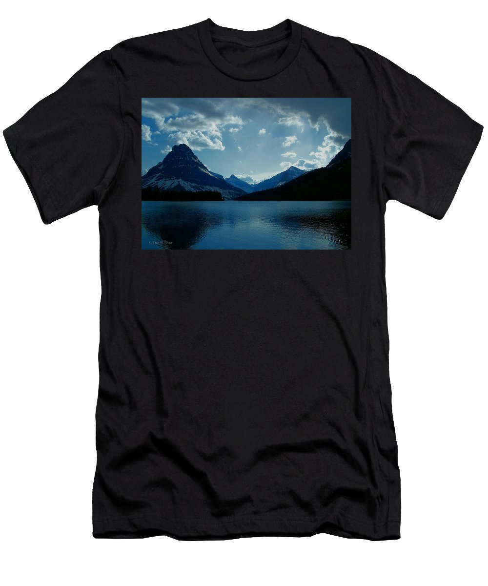 Two Medicine Lake Men's T-Shirt (Athletic Fit) featuring the photograph Two Medicine Lake by Tracey Vivar