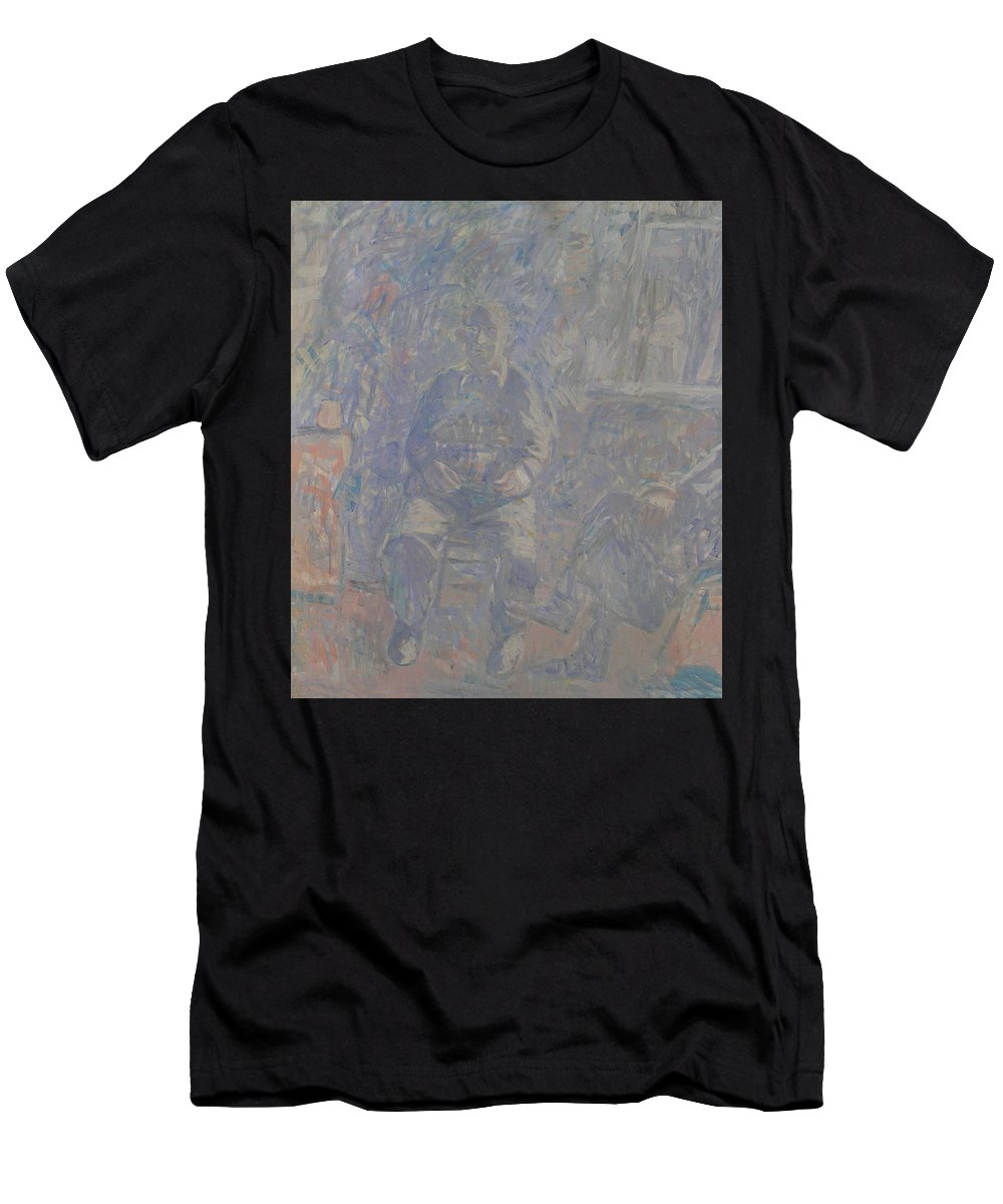 People Men's T-Shirt (Athletic Fit) featuring the painting People by Robert Nizamov