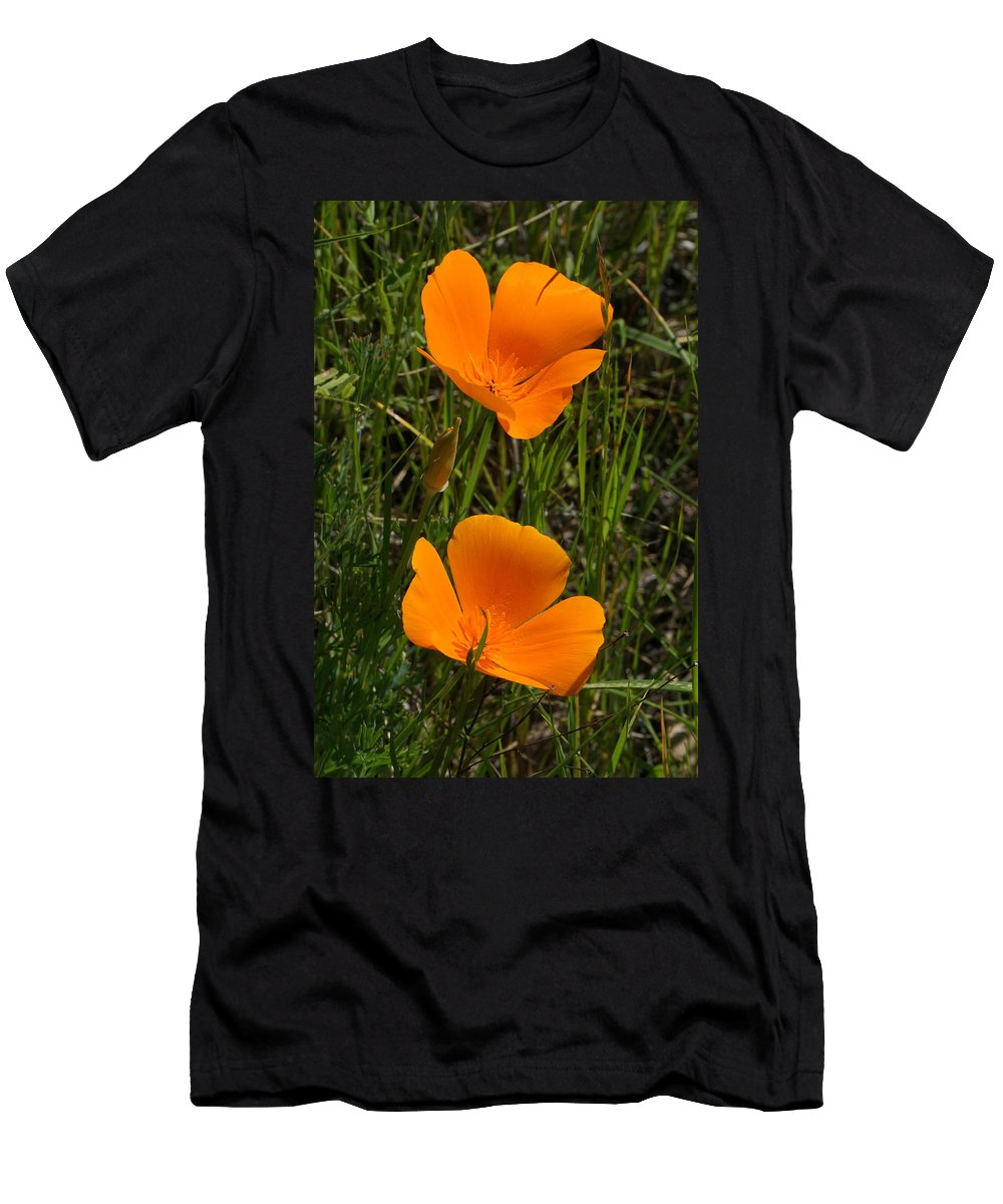 Poppies Men's T-Shirt (Athletic Fit) featuring the photograph Two Poppies by Yuri Tomashevi