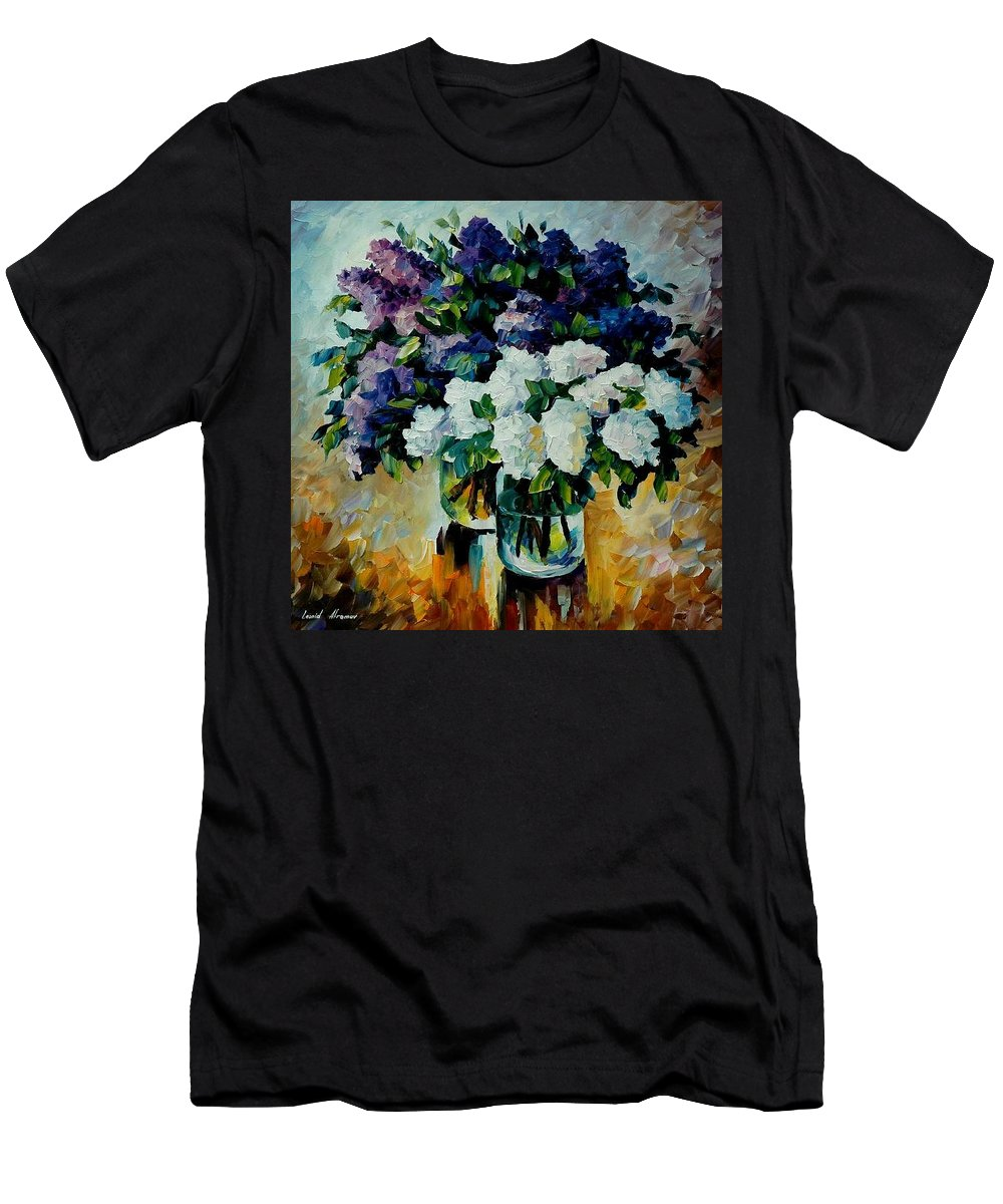 Painting Men's T-Shirt (Athletic Fit) featuring the painting Two Spring Colors by Leonid Afremov