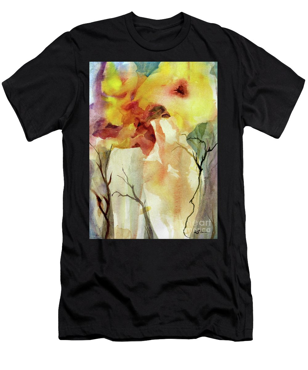 Watercolor Men's T-Shirt (Athletic Fit) featuring the painting Two Vases by Katie Turner