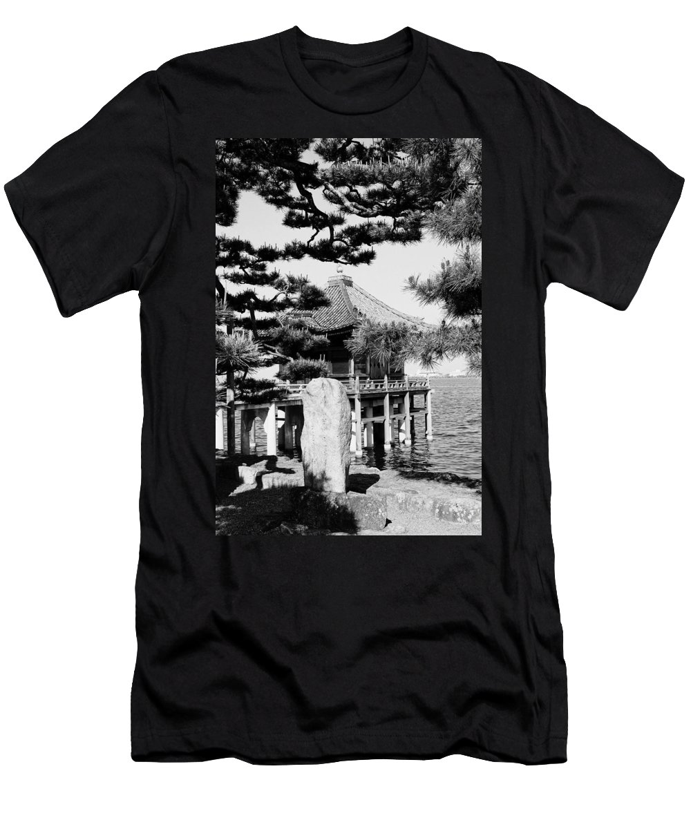 Asia Men's T-Shirt (Athletic Fit) featuring the photograph Ukimi-do Temple by Juergen Weiss