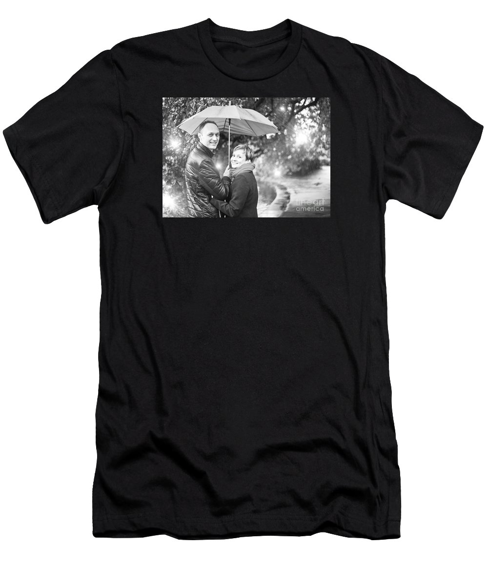 Engagement Men's T-Shirt (Athletic Fit) featuring the photograph Ula And Wojtek Engagement 7 by Alex Art and Photo
