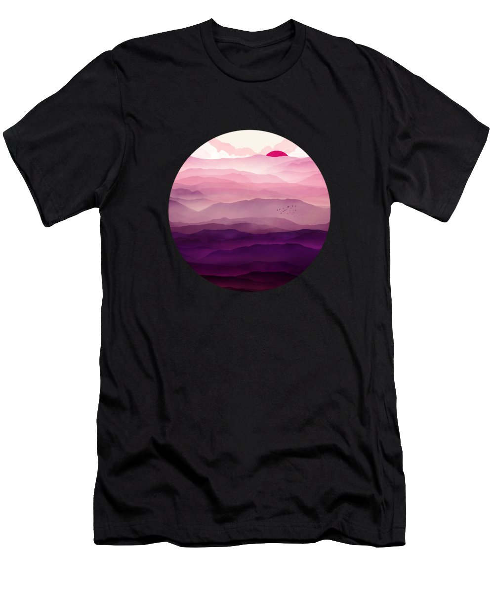 Violet T-Shirt featuring the digital art Ultraviolet Day by Spacefrog Designs