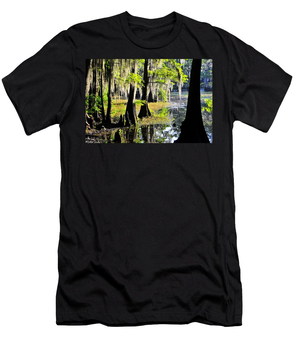 Skip Hunt Men's T-Shirt (Athletic Fit) featuring the photograph Uncertain by Skip Hunt