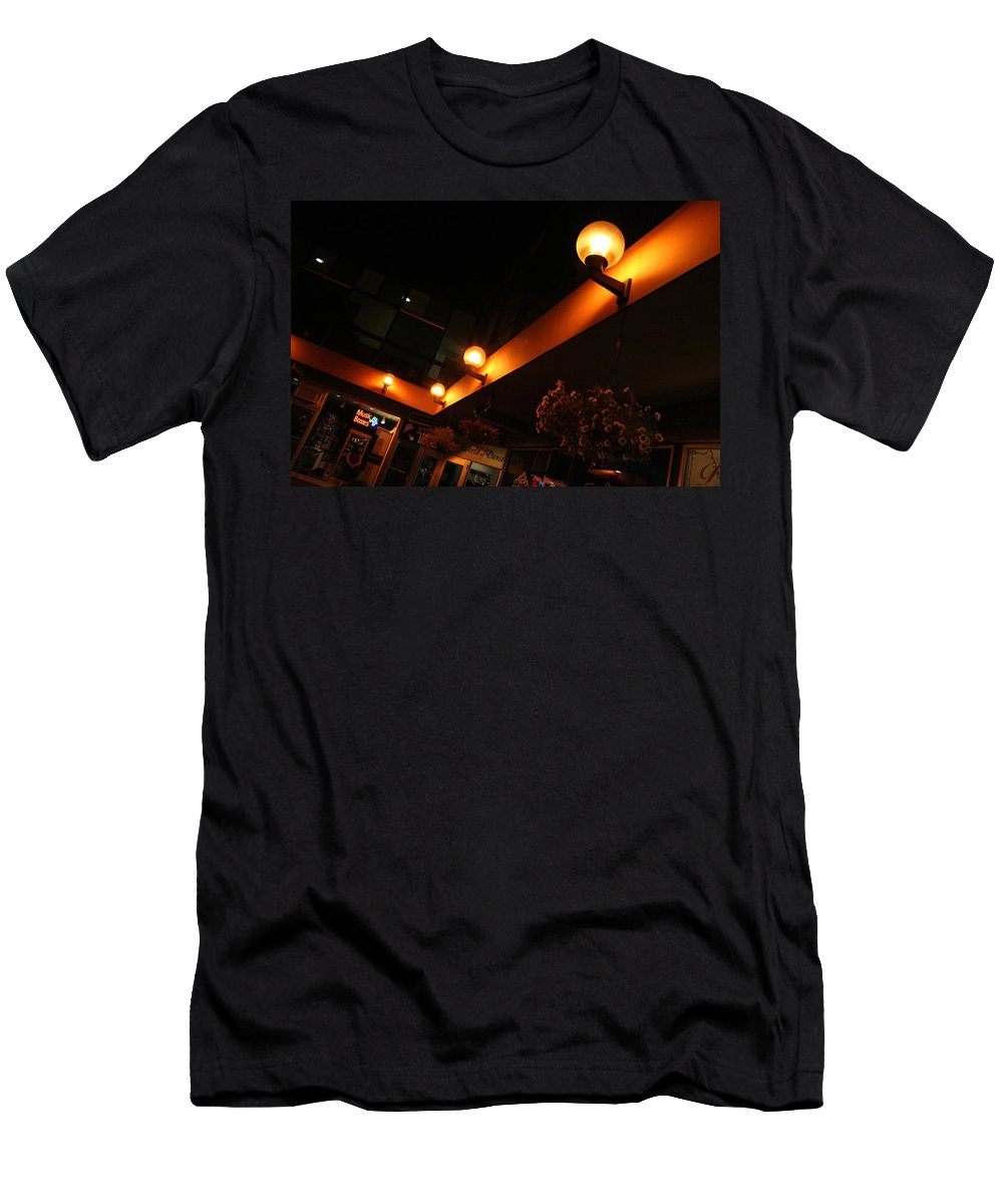 Storefront Men's T-Shirt (Athletic Fit) featuring the photograph Under The Lights Of Old Colorado City by Ric Bascobert
