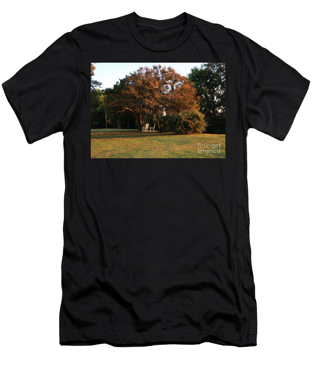 Tree Men's T-Shirt (Athletic Fit) featuring the photograph Under The Tree by Bryrrose Photography