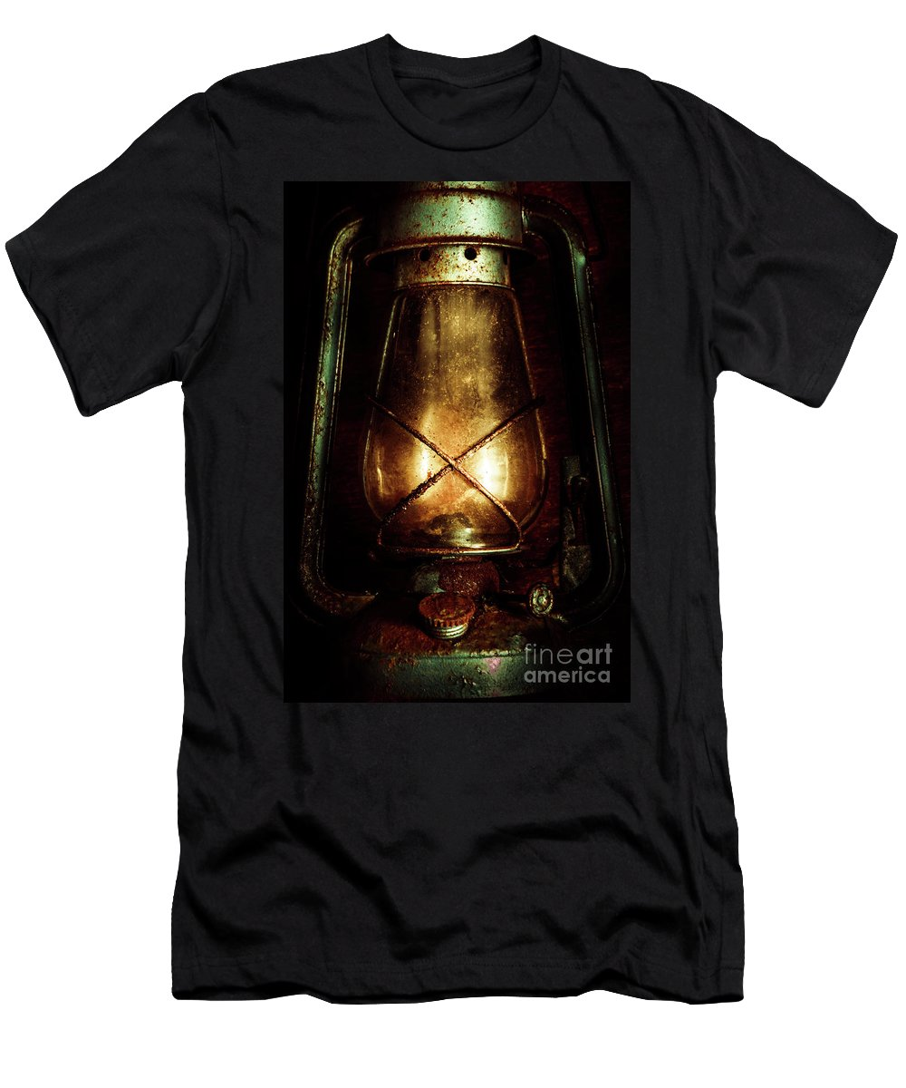 Mining T-Shirt featuring the photograph Underground Mining Lamp by Jorgo Photography - Wall Art Gallery