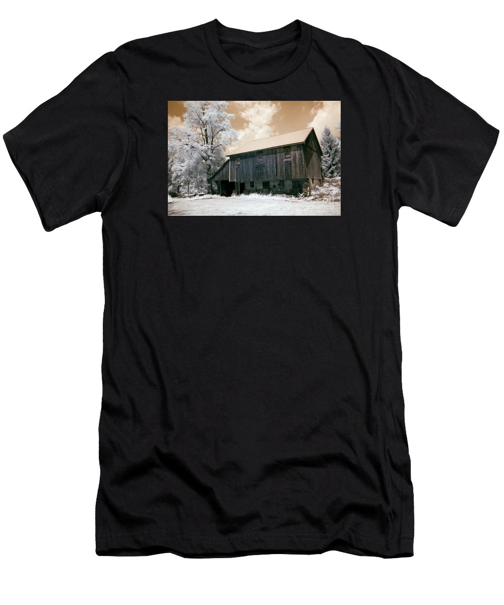 Barn Men's T-Shirt (Athletic Fit) featuring the photograph Underground Railroad Slave Hideout by Paul W Faust - Impressions of Light