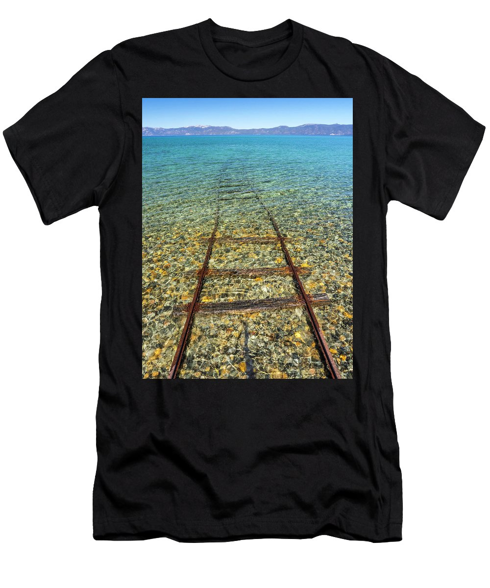Usa Men's T-Shirt (Athletic Fit) featuring the photograph Underwater Railroad by Martin Gollery