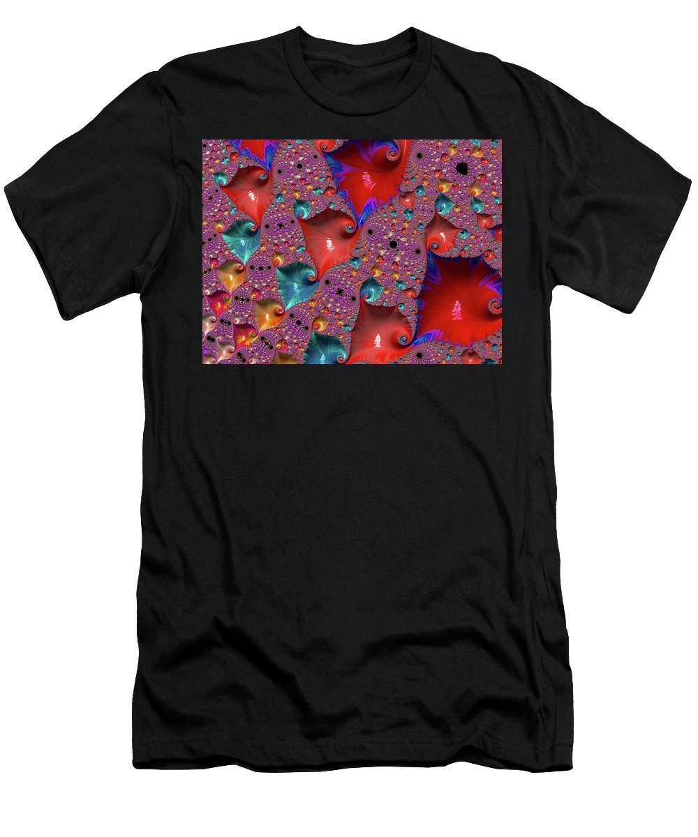Abstract Men's T-Shirt (Athletic Fit) featuring the photograph Underwater World - Series Number 33 by Barbara Zahno