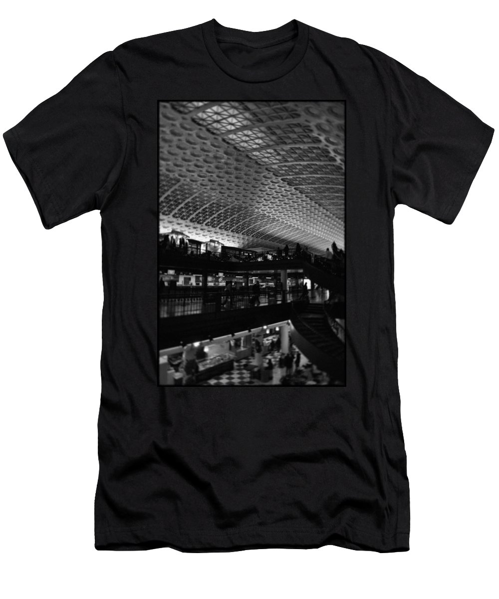 Union Station Men's T-Shirt (Athletic Fit) featuring the photograph Union Station Washington Dc by Kyle Hanson