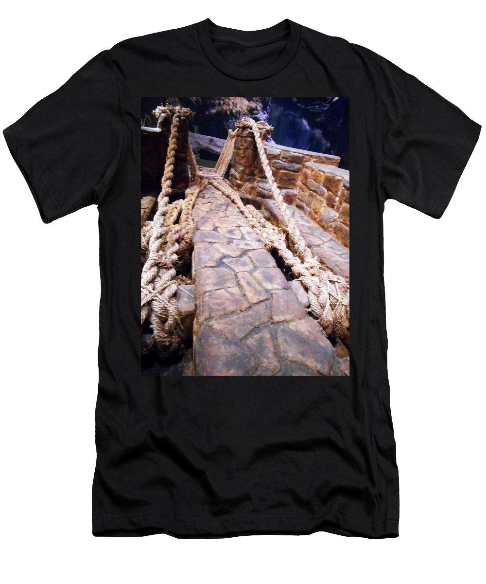 Bridge Men's T-Shirt (Athletic Fit) featuring the photograph Unique Bridge by Ron Kandt