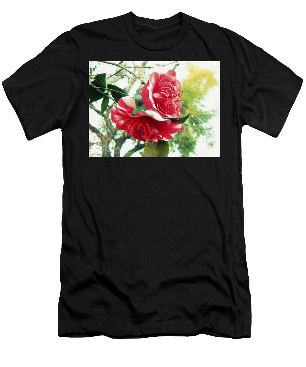 Floral Men's T-Shirt (Athletic Fit) featuring the photograph United With The Vine by Karen Jbon Lee