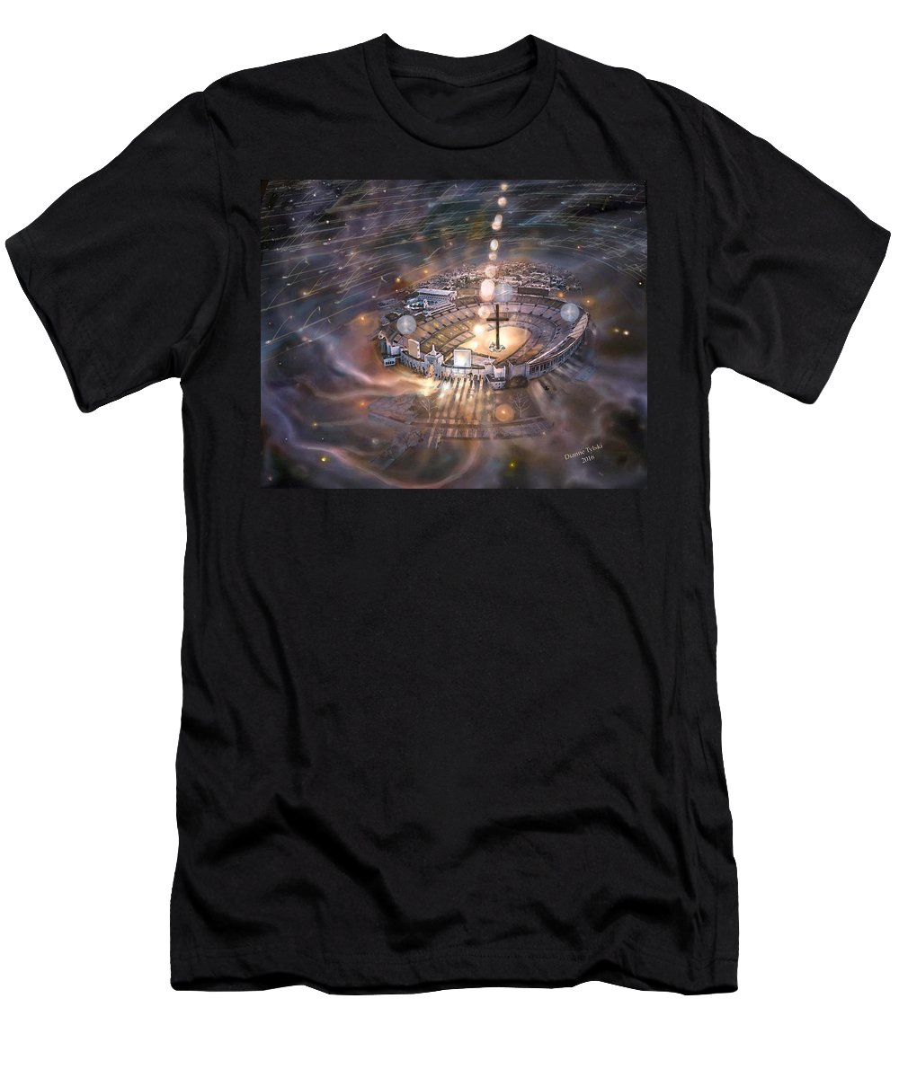 The Colosseum Set In Space Men's T-Shirt (Athletic Fit) featuring the digital art United We Stand by Dianne Tylski