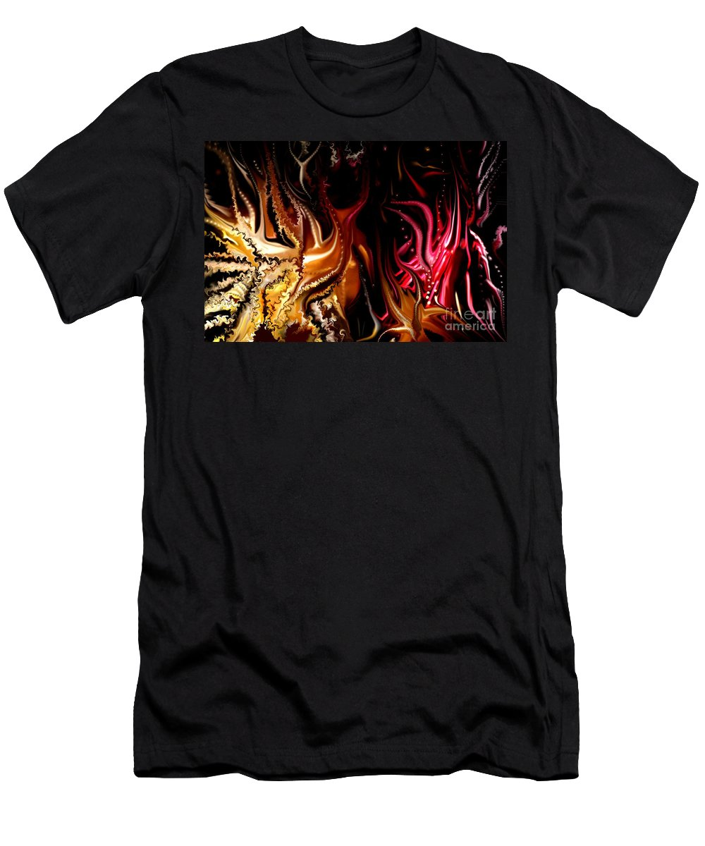 Abstract Men's T-Shirt (Athletic Fit) featuring the digital art Until The End by David Lane