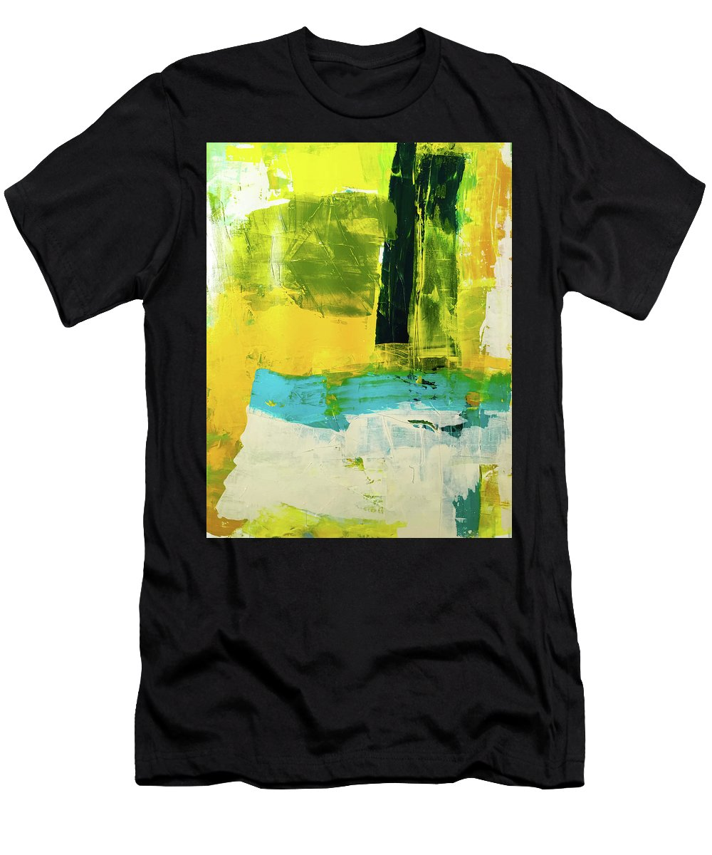 Abstract Men's T-Shirt (Athletic Fit) featuring the painting I Know What I Like by Elliott Aaron