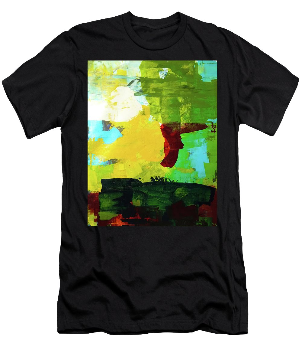 Men's T-Shirt (Athletic Fit) featuring the painting Untitled 20 by Elliott Aaron