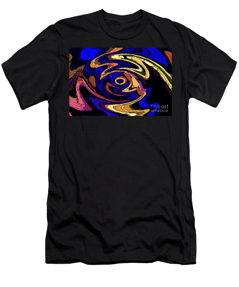 Abstract Men's T-Shirt (Athletic Fit) featuring the digital art Untitled 7-04-09 by David Lane