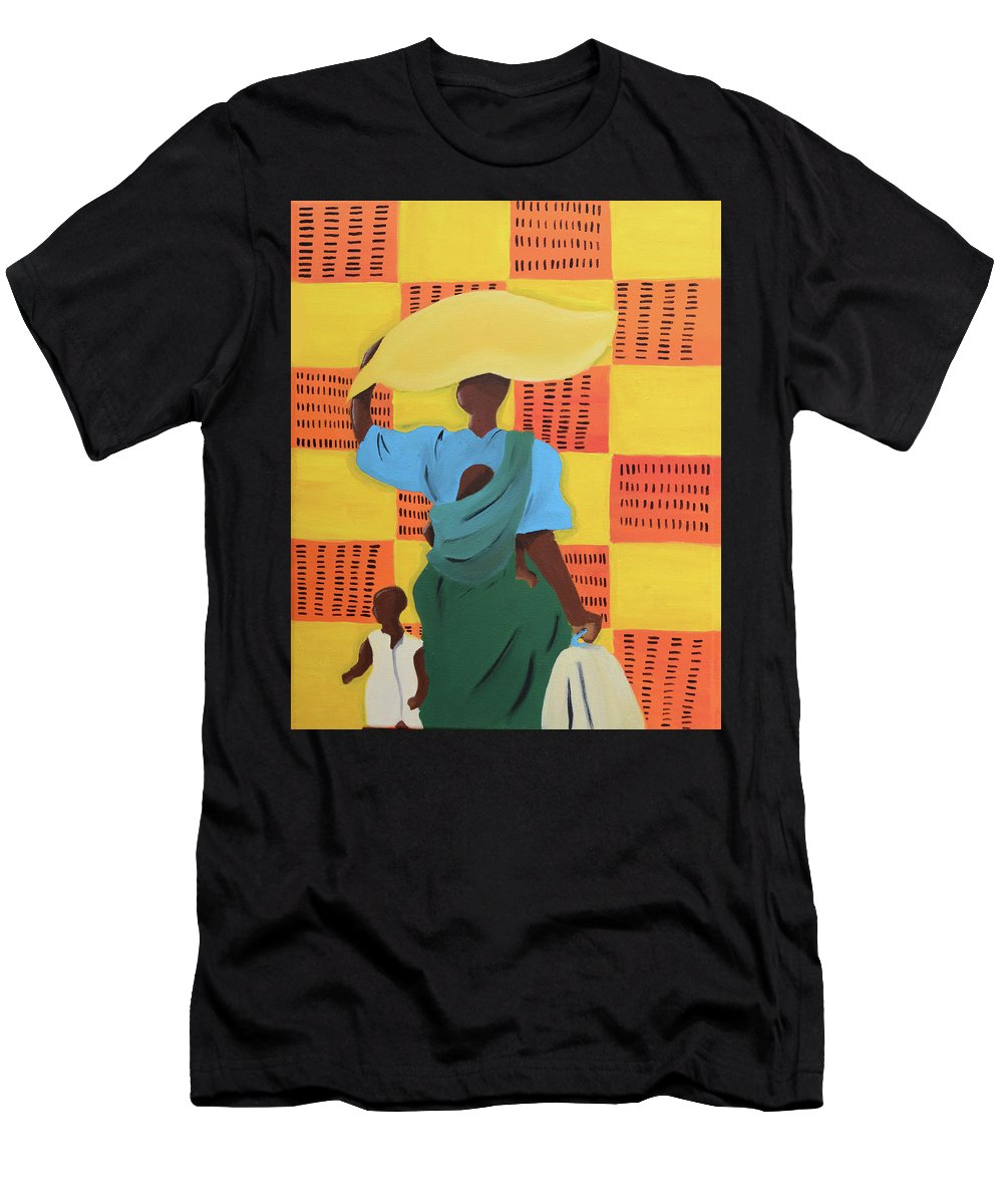 Fine Art Men's T-Shirt (Athletic Fit) featuring the painting Untitled by Martell Holloway